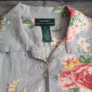 Lauren 100% Linen Short Sleeve Button Down 10